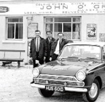 Harry Hay (right) with Cortina and friends