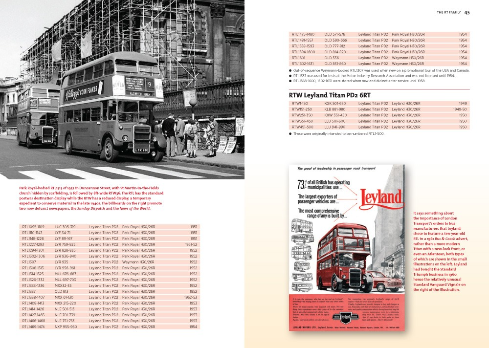 London's Bus Purchases – emphasis on standardisation
